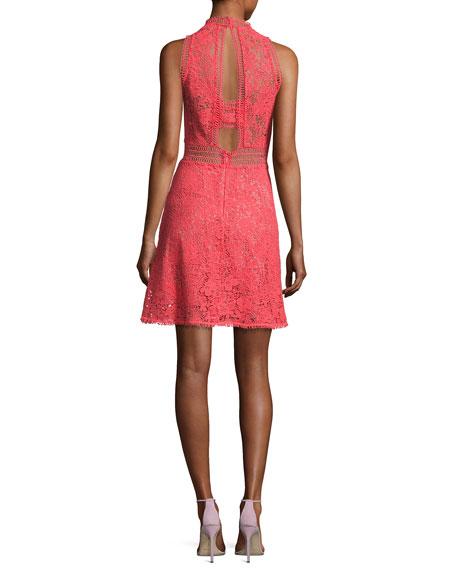 Arella Sleeveless Lace Dress, Ladybug