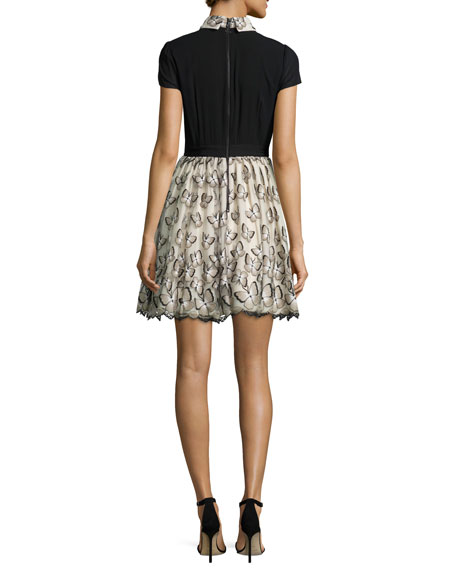 Dolly Butterfly Pouf Party Dress, Black/Neutral