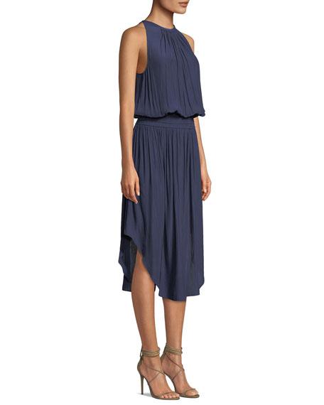 Audrey Sleeveless Blouson Midi Dress