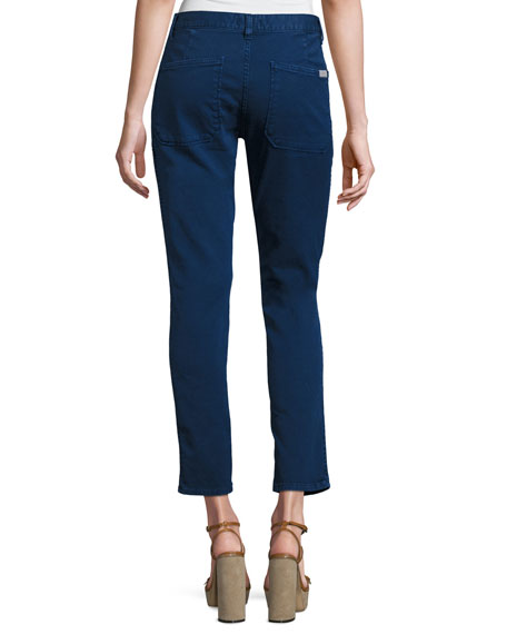 Sally Cropped Jeans, Blue