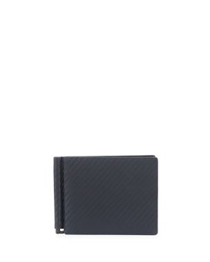 dunhill Chassis Money-Clip Billfold Wallet, Navy