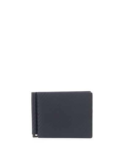 Chassis Money-Clip Billfold Wallet  Navy