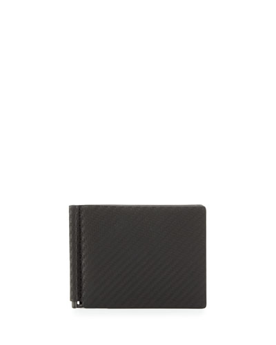 Chassis Money-Clip Billfold Wallet  Black