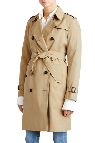 Burberry The Kensington - Long Heritage Trench Coat, Honey