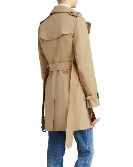Burberry The Kensington Mid-Length Heritage Trench Coat, Honey