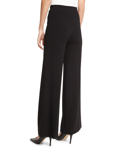 THEORY Terena Admiral Crepe Tailored Wide-Leg Pants