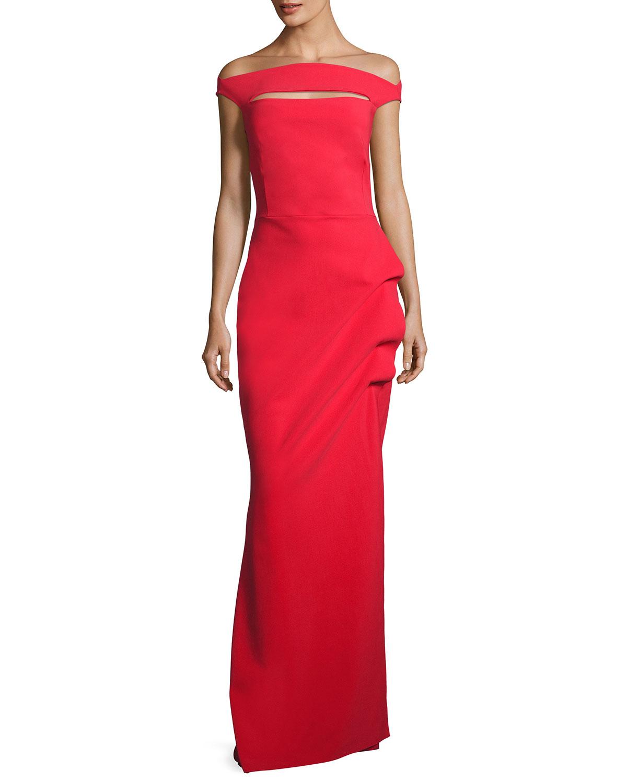 587ccf97 La Petite Robe di Chiara Boni Off-the-Shoulder Jersey Gown   Neiman ...
