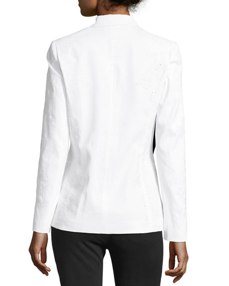 Bonnie One-Button Embroidered Jacket