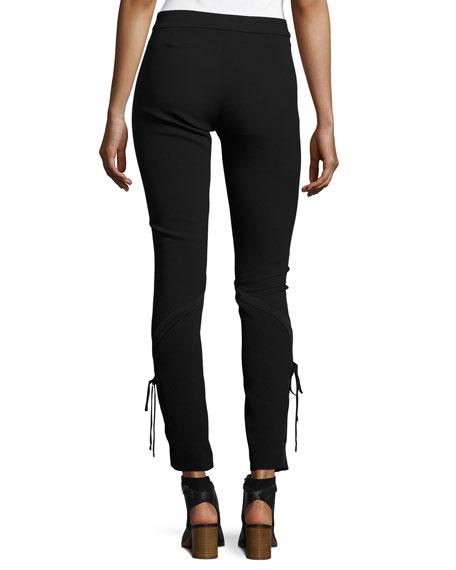 The Getaway Laced Crepe Pants, Black