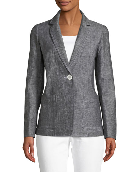 Lafayette 148 New York Alba One-Button Blazer