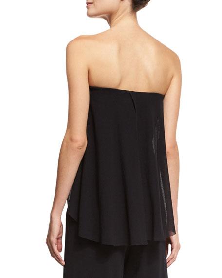 Ruffled Off-the-Shoulder Wide-Leg Jumpsuit, Black
