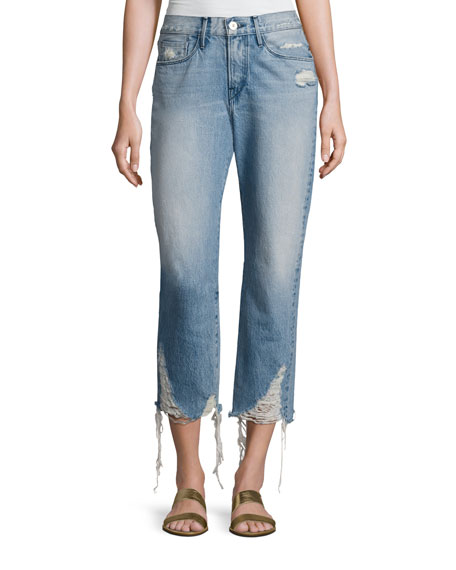 3x1 W3 Cropped Boyfriend Jeans, Higher Ground