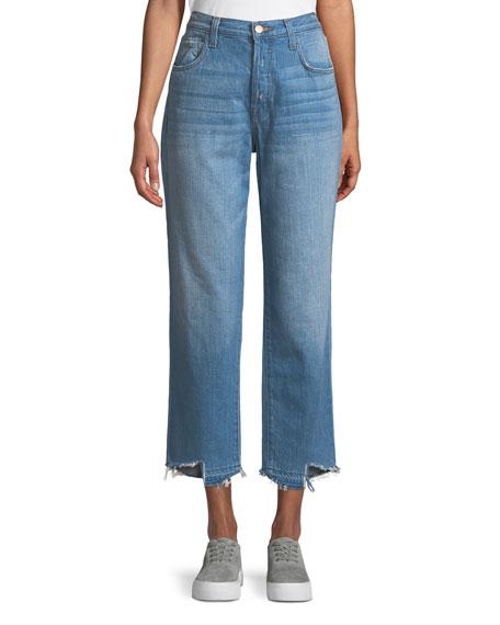 J Brand Ivy High-Rise Straight Leg Denim Jeans,