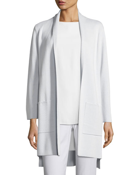 Eileen Fisher Silk Organic Cotton Kimono Cardigan w/