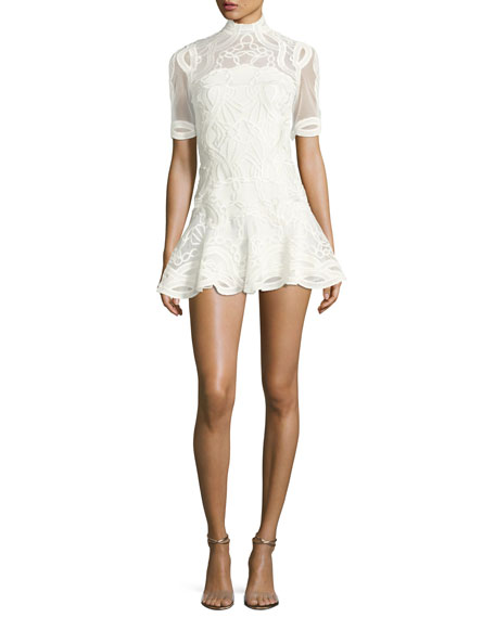 Jonathan Simkhai Truss Lace Appliqué Fit & Flare