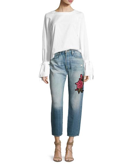 Le Original Patch Jeans, Rose Lake