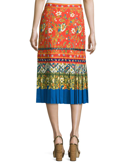 Dayton Runway Button-Front Midi Skirt