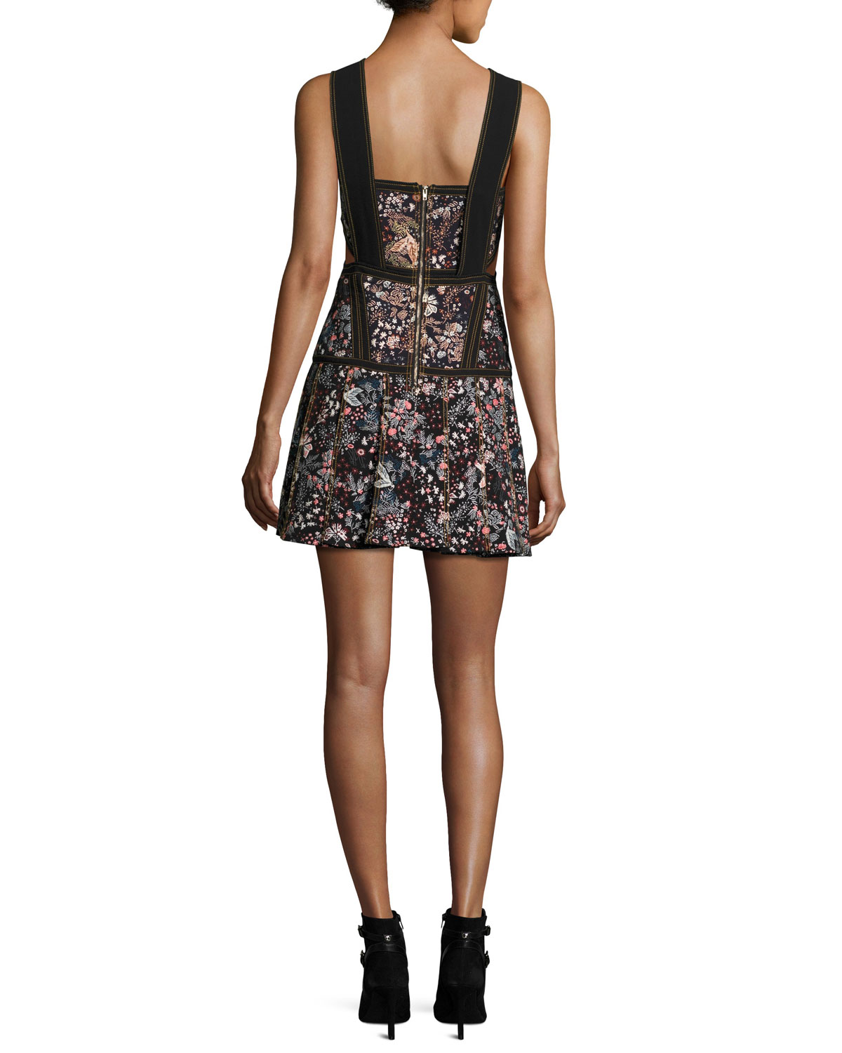 fda4c0d285e5 Self-Portrait Floral Jacquard Sleeveless Mini Dress, Multi | Neiman Marcus