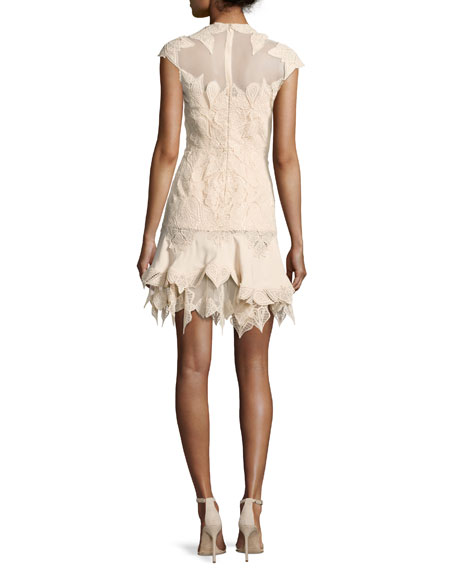 Multimedia Corded Ruffled Mini Dress