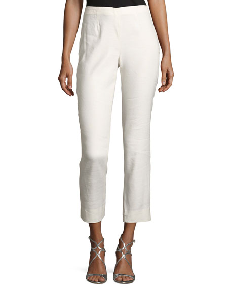 NIC+ZOE Luxe Cropped Linen Pants, Plus Size