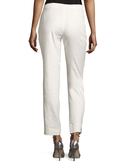 Luxe Cropped Linen Pants, Petite