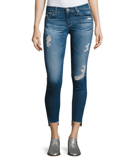 AG 14 Years Radiant Cropped Skinny Jeans with
