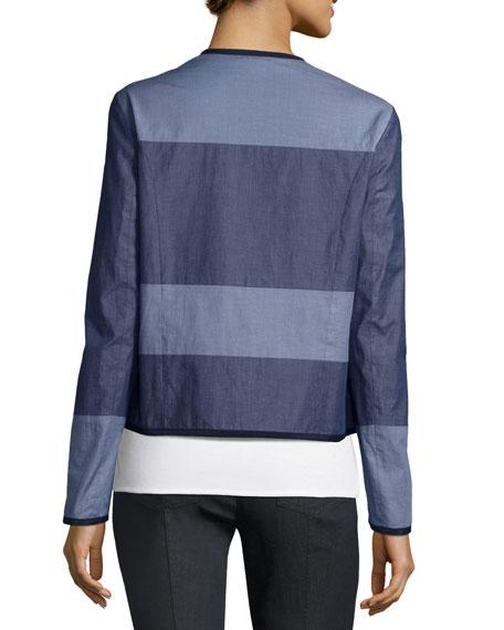 Reversible Denim & Devika Tile-Print Jacket, Blue/Multi