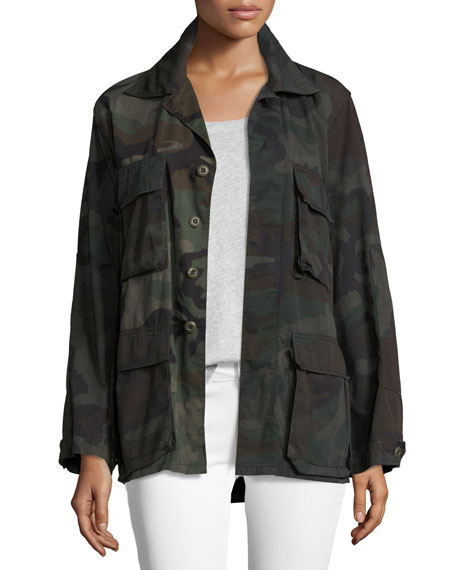 Camouflage Army Jacket, Green