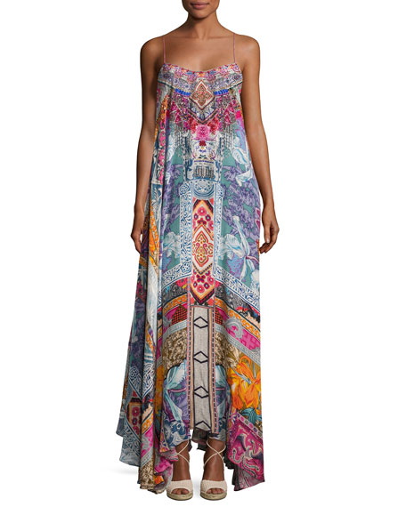 Camilla Embellished Crepe Full Maxi Dress, Sunday Best