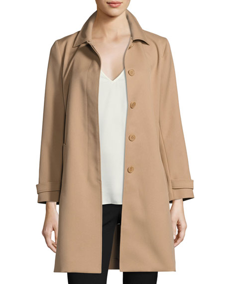 Theory Dafina Prospective Single-Breasted Car Coat, Palomino (Brown)