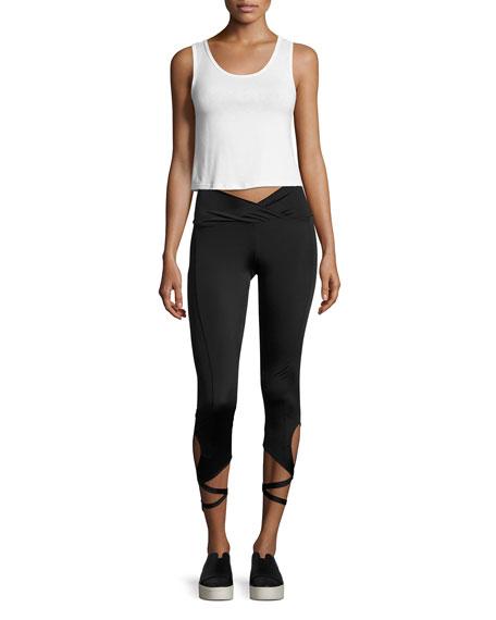 Ballerina Capri Performance Leggings, Black