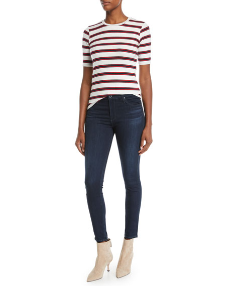 AG The Farrah High-Rise Skinny Jeans, Brooks