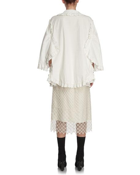 Paneled Macrame Lace Skirt