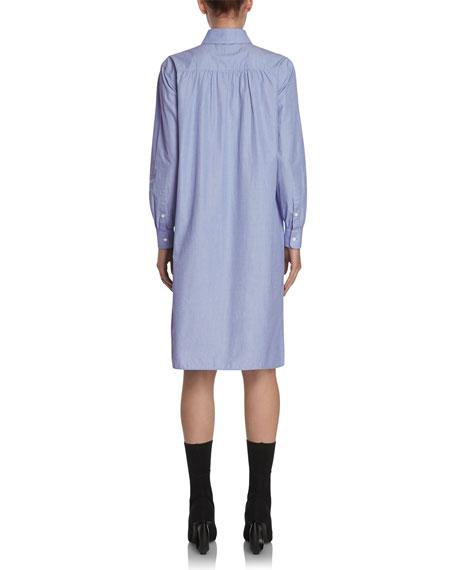 Chambray Tunic Shirtdress, Light Blue