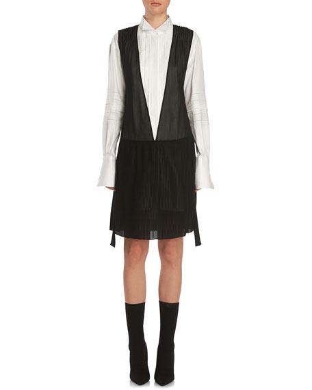 Silk Georgette Dropped-Waist Dress