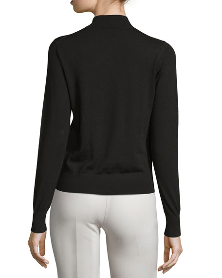 Sallie Refine Mock-Neck Sweater