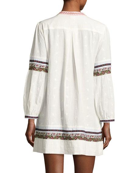 Sensory Embroidered Tunic Dress, White