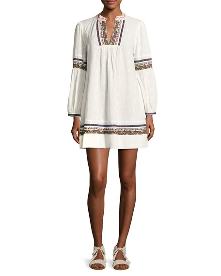 JETS by Jessika Allen Sensory Embroidered Tunic Dress,