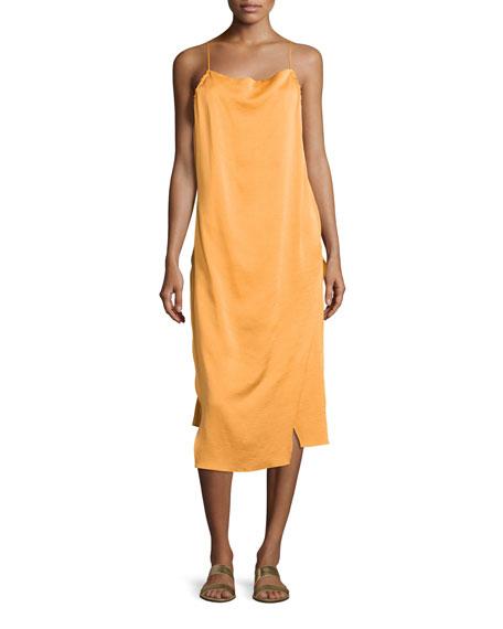 Altara Midi Slip Dress, Medium Yellow