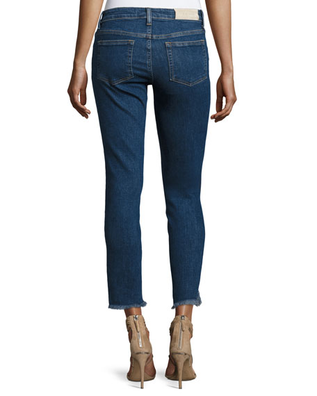 Jarod Cropped Mid-Rise Skinny Jeans, Blue