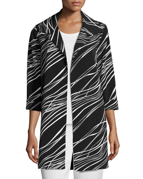 Caroline Rose Good Vibrations Topper Jacket, Plus Size