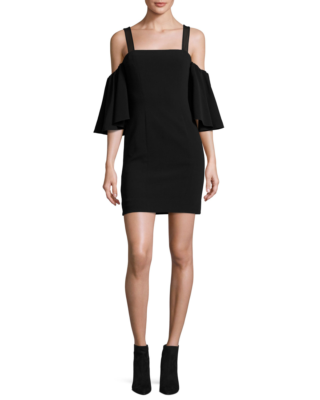 Off-the-shoulder Floral-jacquard Mini Dress - Black Opening Ceremony bmJQFznFJ
