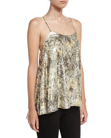 Haute Hippie The Admire Printed Metallic Camisole &