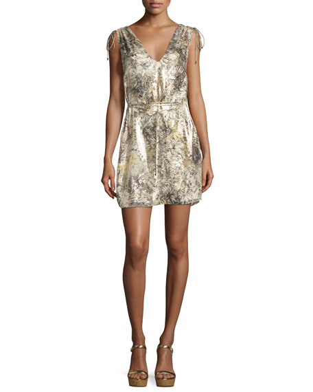 Haute Hippie The Follow Me Metallic Floral Dress,