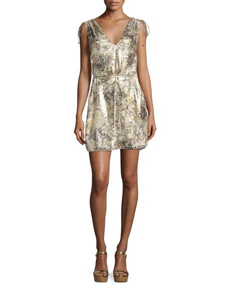 Haute Hippie The Follow Me Metallic Floral Dress,