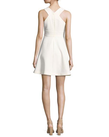 Kensington Crisscross Sleeveless Dress, White