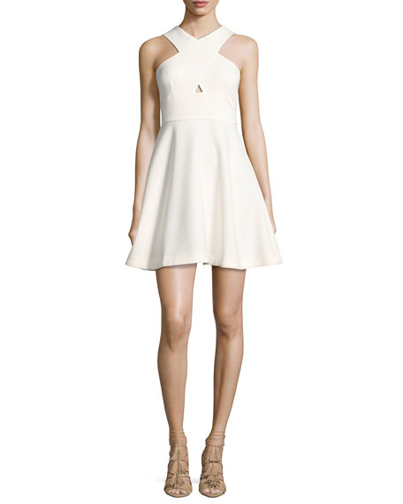 Likely Kensington Crisscross Sleeveless Dress, White