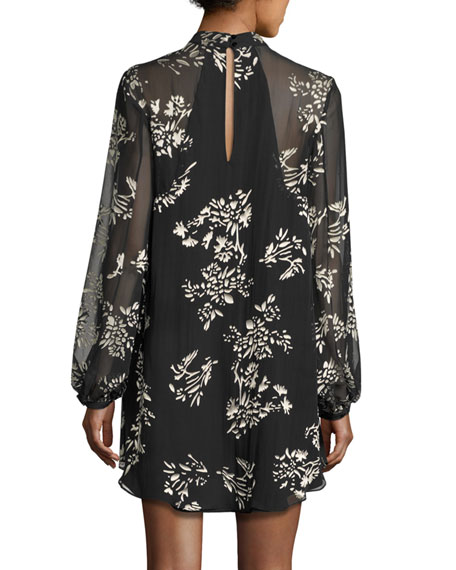 The Mentor Floral Mini Dress, Black