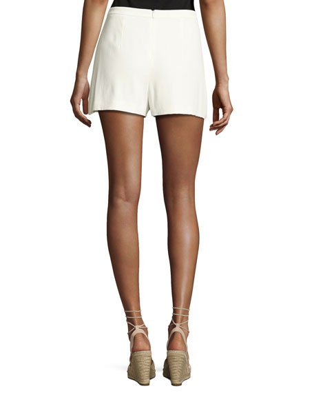 Stefka Contrast-Stripe Shorts, White