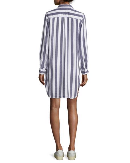 Julian Striped Shirt Dress
